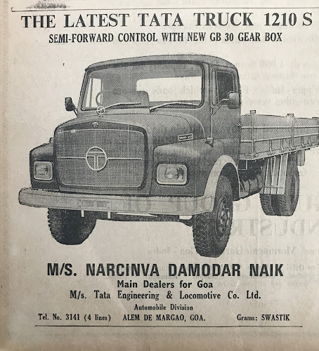 An advertisement by Narcinva Damodar Naik, Goa's only dealer of mining trucks, for a mining tipper. With loans coming easily and support from mining companies, more than thousand trucks a year were bought by locals. . Courtesy: Supriya Vohra
