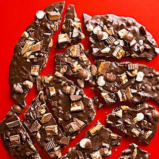 Dark Chocolate Candy Bark.
