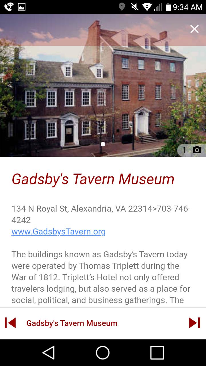 Скриншот Alexandria War of 1812 Tour