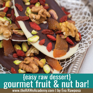 GOURMET CHOCOLATE FRUIT & NUT BAR.