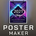 Poster Maker 2021 Video, ads, flyer, banner design icon