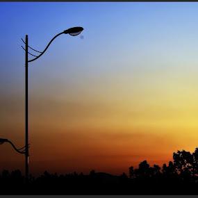 Sunset by Gopichand Kokirkar - Landscapes Sunsets & Sunrises ( nature, sigma, sunset, seoul, landscape, nikon, korea )