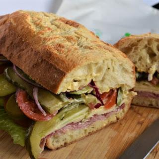 Mile High Sub Sandwich.