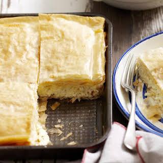 Bougatsa Greek Cream Filled Phyllo Pastries.