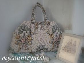 Photo: Maxi shopper modello Amy Butler in tessuto da arredamento