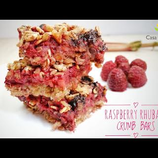 Low FODMAP Raspberry Rhubarb Crumb Bars Recipe (video).
