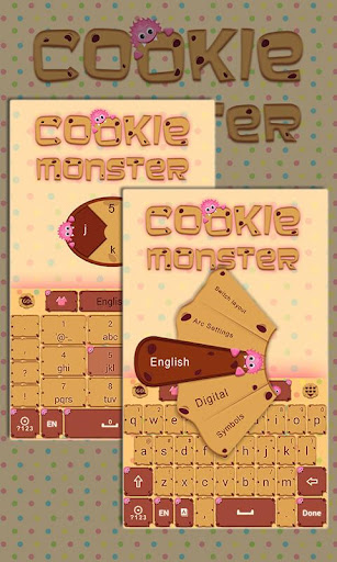 Cookie Monster Keyboard Theme
