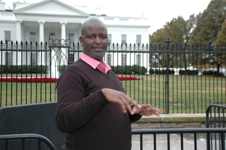 Robin Njogu during a trip to the US