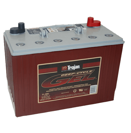 Trojan 31-GEL 12V 102Ah gelbatteri. LxBxH: 329x171x228/245mm