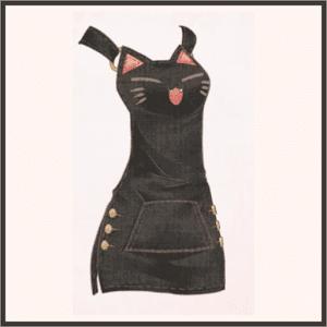 モモの吊りスカート(黒)