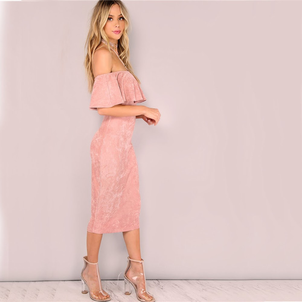 best-valentine-day-outfits_pink_suede_off_shoulder_dress