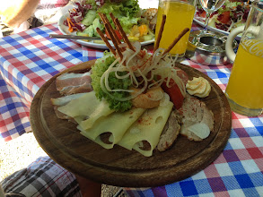 Photo: Riley's Bavarian lunch
