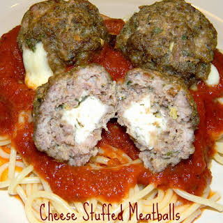 Cheese Stuffed Meatballs.