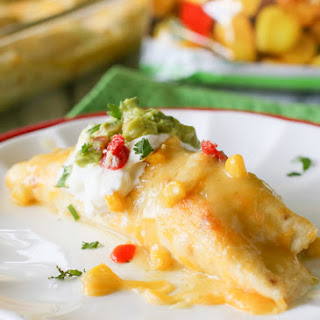 Sweet Corn and Chicken Enchiladas