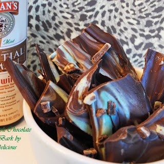 Creamy Mint Chocolate Bark - #Choctoberfest with Imperial Sugar