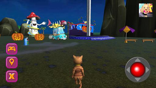 Halloween Cat Theme Park 3D screenshots 2