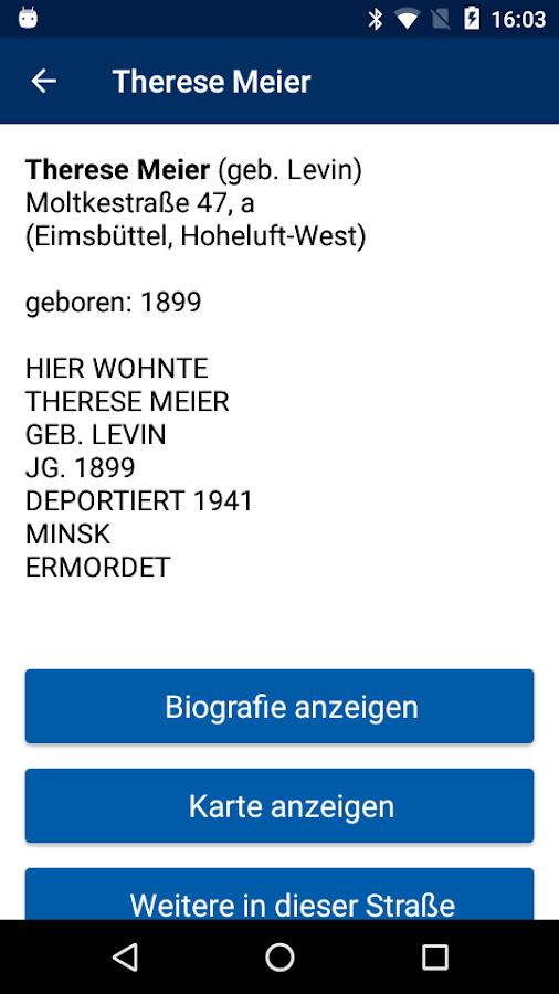 Stolpersteine Hamburg- screenshot