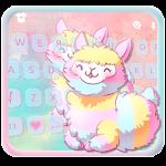 Cartoon Lovely Alpaca Keyboard Theme Icon