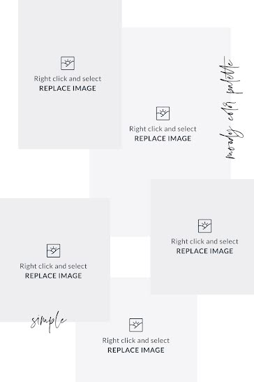 Simple & Plain Inspiration - Mood Board Template