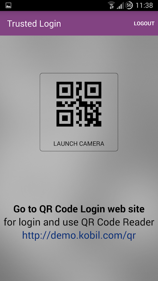 Kobil Trusted Login - 2FA- screenshot