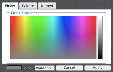 Color palette selector