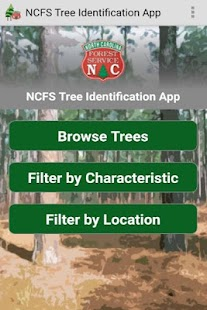 NCFS Tree ID App- screenshot thumbnail