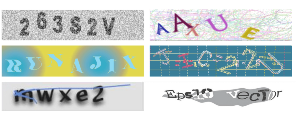 graphic recaptcha is a simples type of captcha.