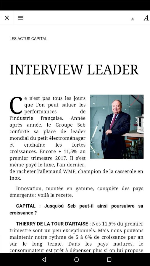 Capital le magazine- screenshot
