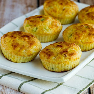 Cottage Cheese and Egg Breakfast Muffins with Ham and Cheddar.