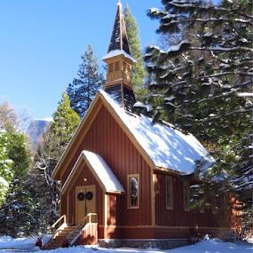 Yosemite Valley Chapel by Janet Martinez - Public Holidays Christmas ( yosemite, chapel, garyfonglandscapes, holiday photo contest, photocontest )