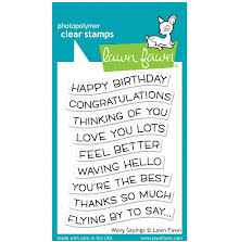 Lawn Fawn Clear Stamps 3X4 - Wavy Sayings
