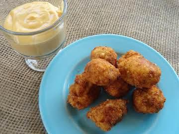 Mashed Potato Bites and Cheesy Dip