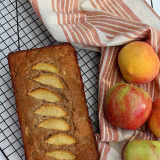 Healthy Apple Peach Cake