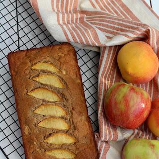 Healthy Apple Peach Cake.