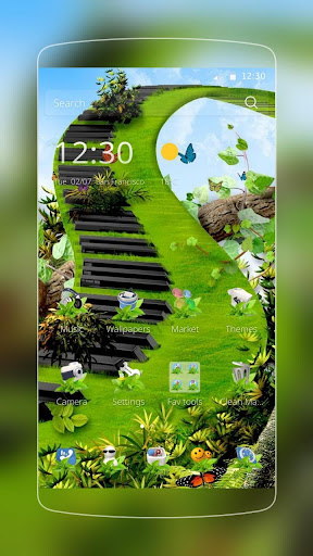 蝴蝶綠鋼琴