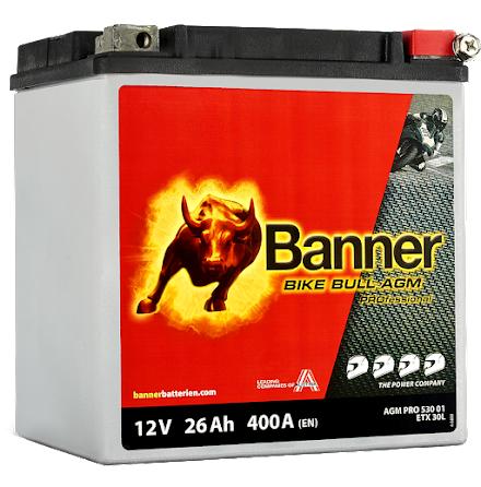 Banner Bike Bull AGM PRO ETX 30L 12V 26Ah