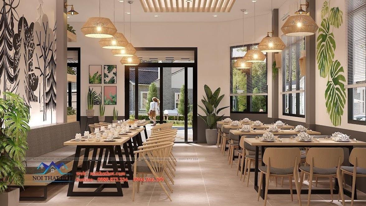 thiết kế nhà hàng dẹp, giá hợp lý 10