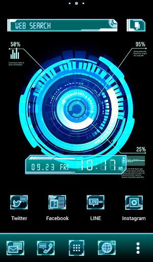 Cyber Interface Cool Theme 1.0.0 Windows u7528 1
