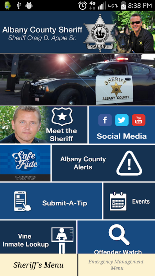 Albany County Sheriff's Office- screenshot