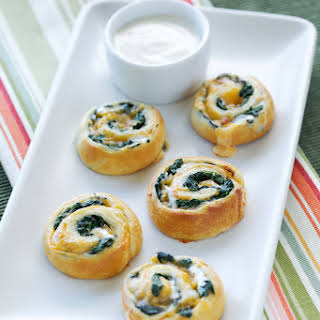 Spinach and Cheese Spirals.