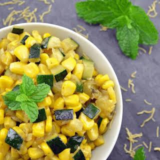 Zucchini & Corn Sabzi / Saute.