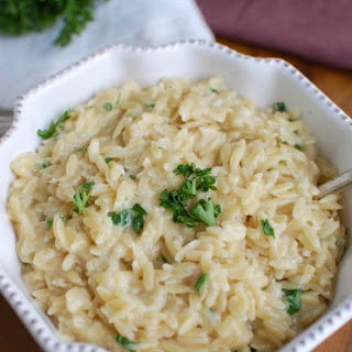 4 Ingredient Cheesy Orzo Recipe