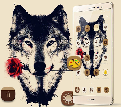 Tattoo Rose Romantic Wolf Theme 1.1.4 screenshots 4