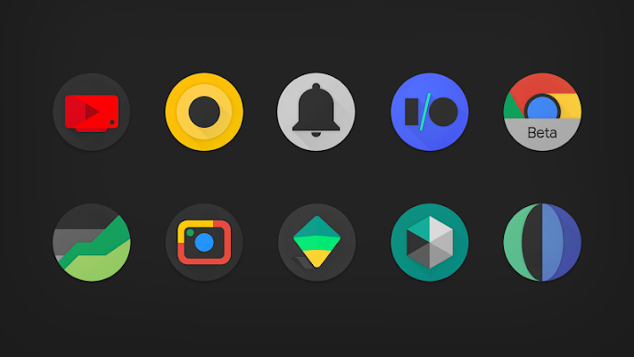 PIXELATION - Dark Pixel-inspired icons Screenshot Image