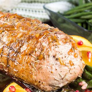 Orange Pomegranate Rosemary Pork Roast.