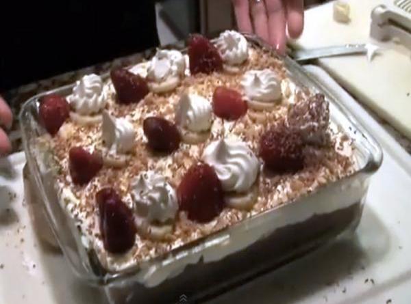 Chocolate-banana Cream Brownie Squares Recipe