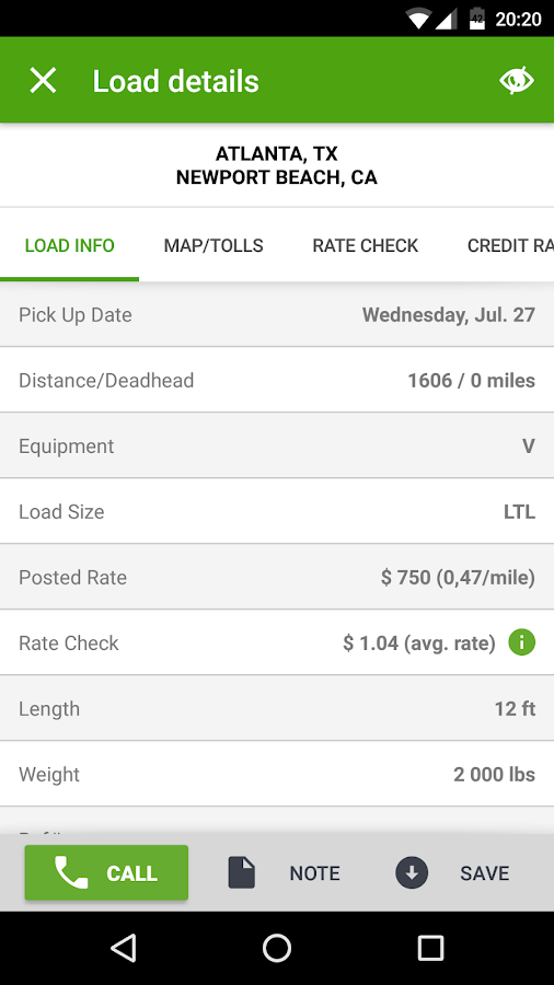 Find Truck Loads - Load Board- screenshot