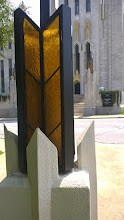Photo: August 8-Some fine design mimicking wheat in the lamps surrounding the church.