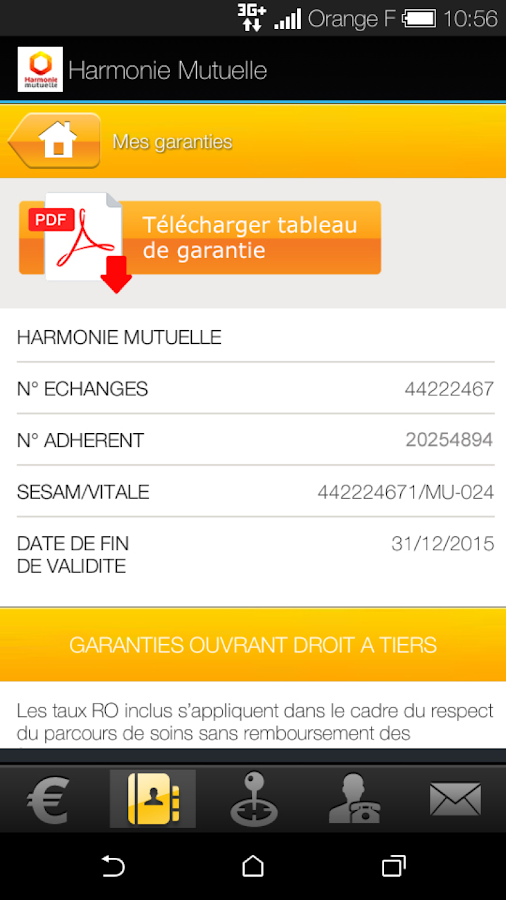 Harmonie Mutuelle- screenshot