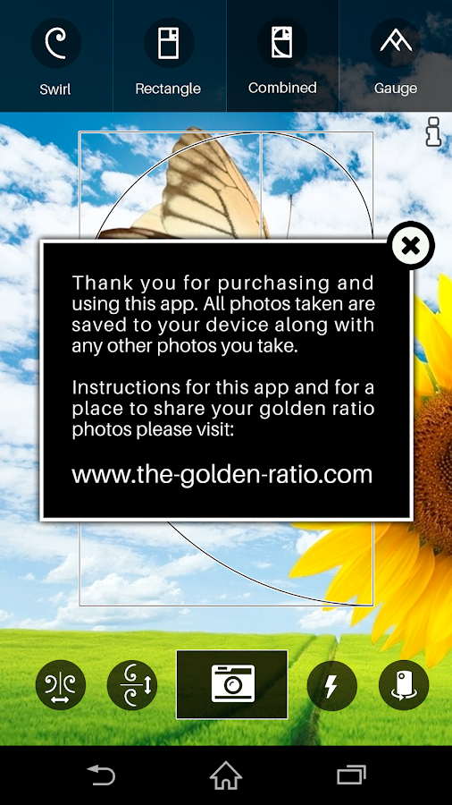 The Golden Ratio Camera- screenshot
